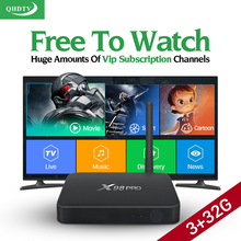 Dalletektv X98 PRO Smart TV Caja Androide 6.0 Amlogic S912 Octa Core 3G/32G WiFi IPTV Árabe QHDTV Europa Medios de Comunicación Franceses jugador