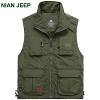 NIAN JEEP Brand Clothing Military Coats Summer Travels Vests Men's Vest Photographer Vests Causal Shooting Vest With Pockets