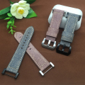 24mm High quality Canvas +Leather Watch Strap With Adapter for SUUNTO CORE ESSENTIAL free shipping