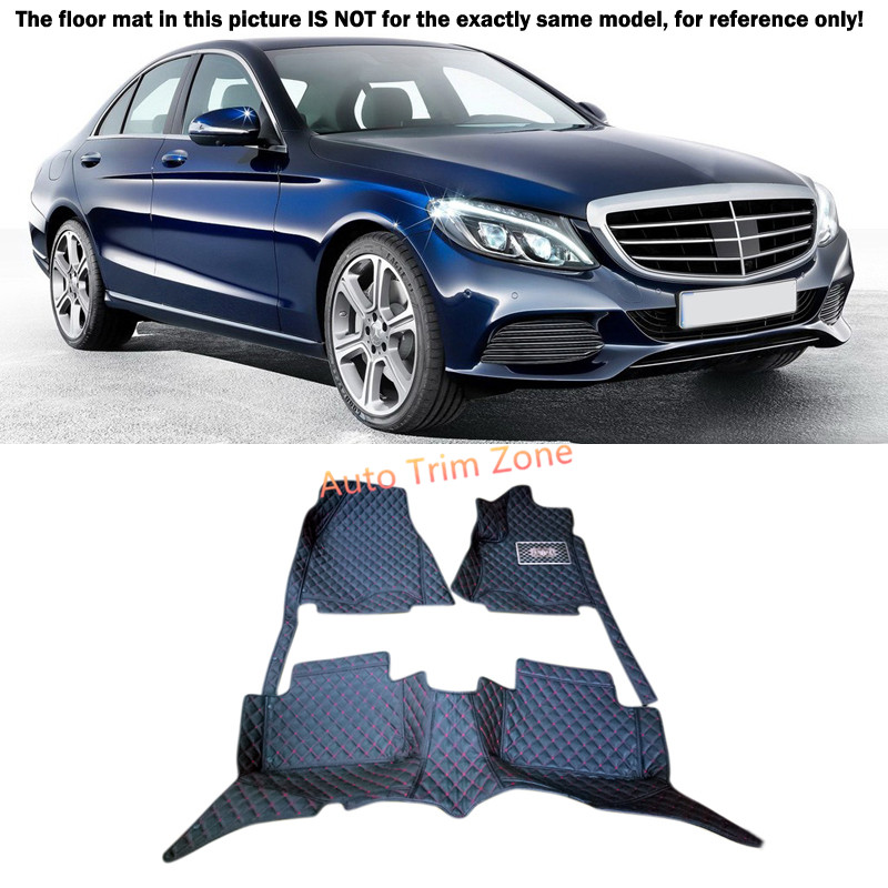 Black Interior Floor Mats & Carpet Foot Pad For Mercedes Benz C-Class 2014-2015 W205 auto fuel filter 163 477 0201 163 477 0701 for mercedes benz