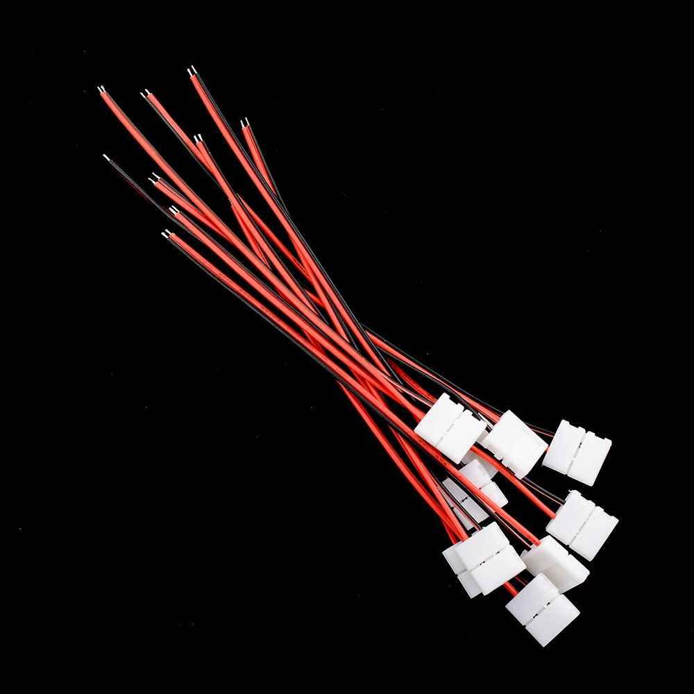 Lớn Xúc Tiến 10x Dây với 2 Pin Nối Adapter Tại 1 End cho năm 10 mét 3528 5050 Độc Màu