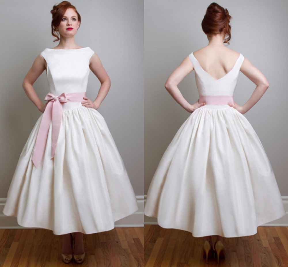 1950s style wedding dresses gown and dress gallery simple tea length wedding dresses ombrellifo Choice Image