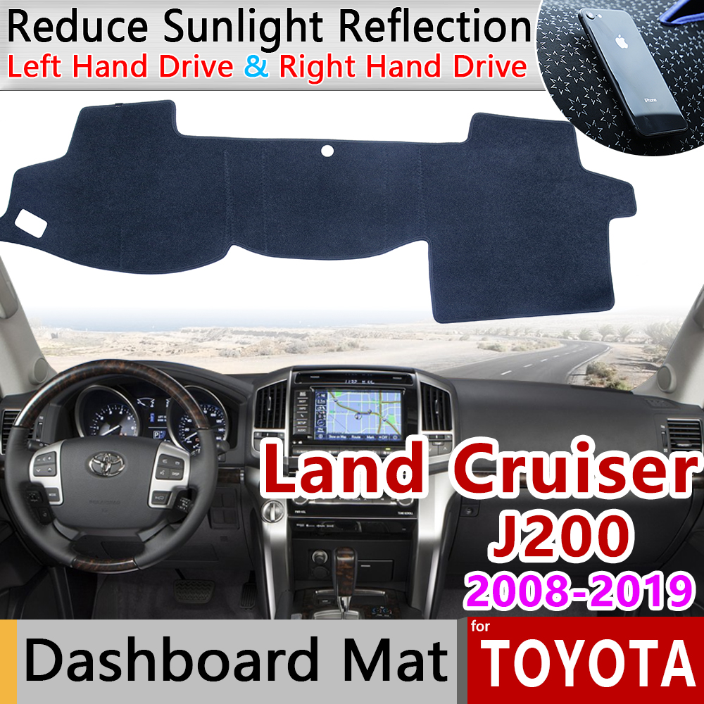 for Toyota Land Cruiser 200 J200 2008 2019 Anti-Slip Mat Dashboard Cover Pad Sunshade Dashmat Carpet Accessories 2010 2013 2018