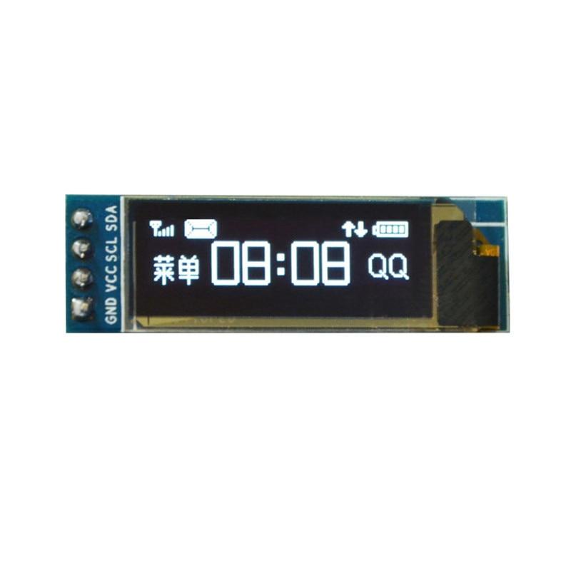 0.91 inch Blue OLED LCD Display Module 128x32 I2C IIC Serial Blue 0.91 OLED Display Module for Arduino SSD1306 12832