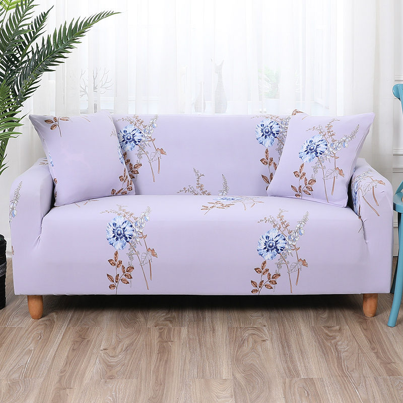 Us 10 6 Fl Print Slipcovers Sofa Wrap Leaves Elastic Covers For Living Room 1pc Home Decor Spandex Furniture Cover In