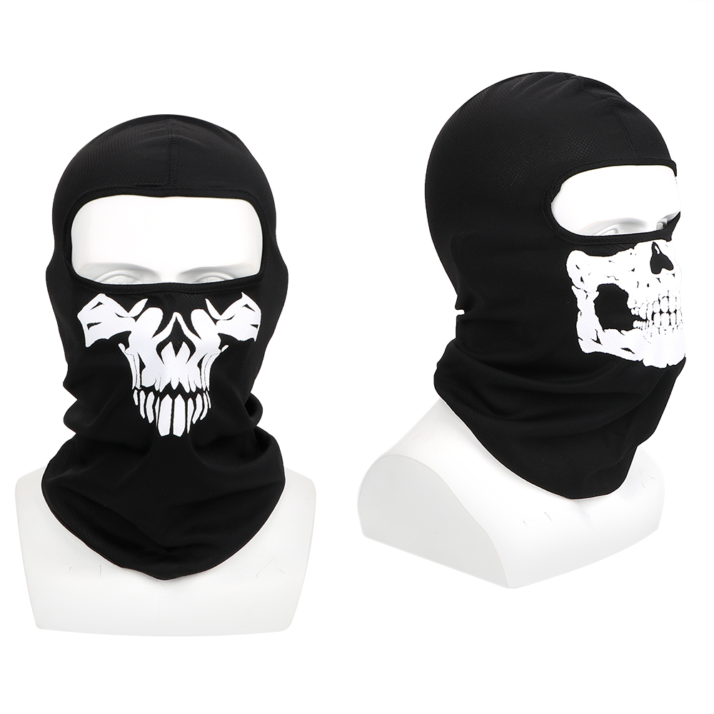 Motorcycle Bike Windproof Mask Balaclava Winter Ski Mask Breathable Full Face Mask Unisex Halloween Ghost Skull Outdoor Sports