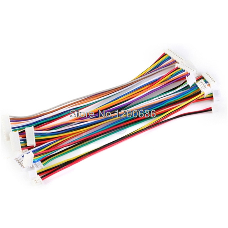 10pieces 5 Pin JST ZH  1.5 ZH1.5 1.5mm Female Female Double Connector With Flat Cable 150MM Same Direction