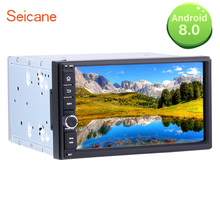 Seicane 7 «2 Din универсальный автомобильный Радио Android 8,0 HD сенсорный экран мультимедийный плеер для NISSAN TOYOTA KIA с gps навигации WI-FI