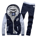 New 2016 men's boutique thickening of warm winter suits / hoodies+ pants / Men casual cardigan hoodies and coat 745