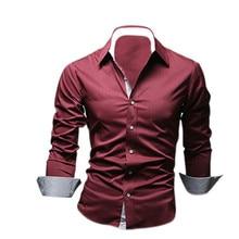 2016 Стиль Дизайн Рубашек Mens высокого качества Вскользь Уменьшают Подходящие Стильные Рубашки 5 Цвета Размер: M ~ 3XL