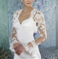 Custom made/Wholesale Lace Long Sleeve White /Ivory Wedding Bridal Jacket Bride Coat Wedding Accessories 2015 New Jacket Bolero