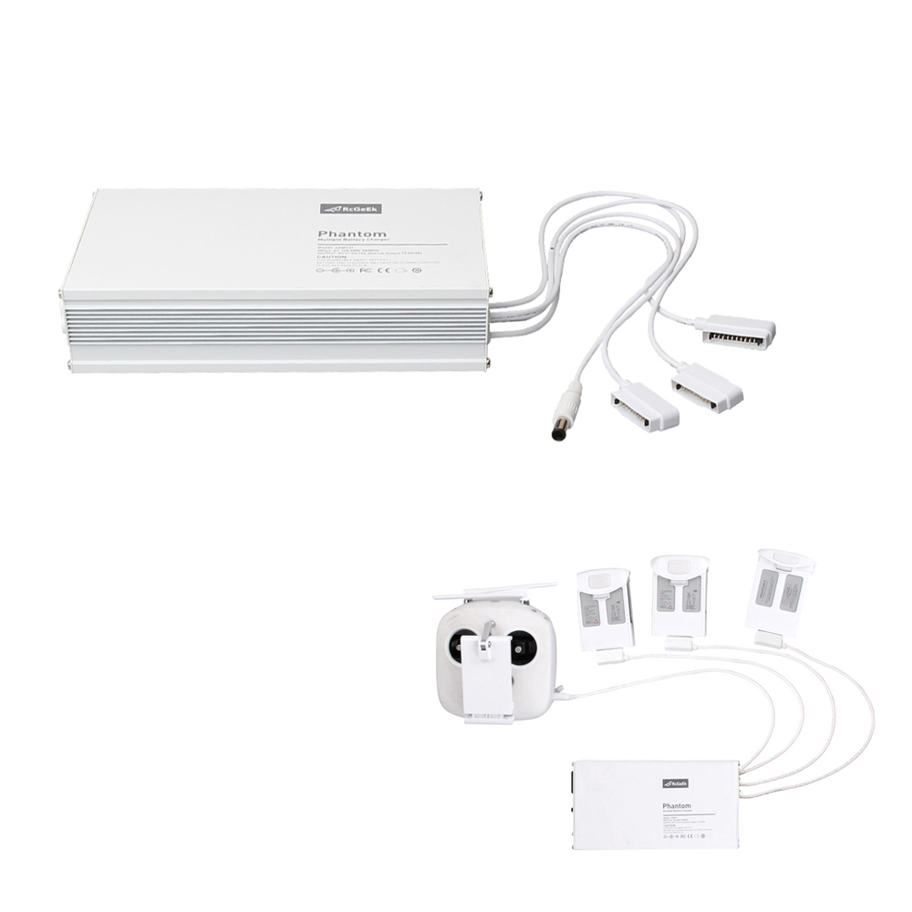 4 in 1 Multi Charging Hub Intelligent Quick charge Charger Battery And Transmitter Charger For DJI Phantom 4 RC Quadcopter original dji phantom 4 battery charging hub intelligent charge up to three intelligent fly batteries for phantom 4 series