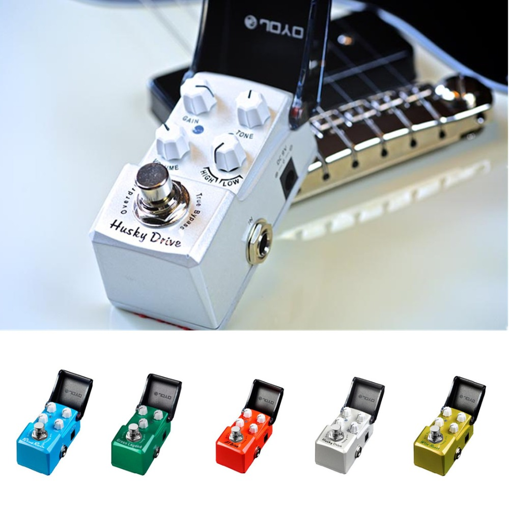 JOYO 5 Colors IRONMAN True Bypass Guitar Effects Pedal Tube Overdrive high gain overdrive Booster Blues overload Guitar Parts