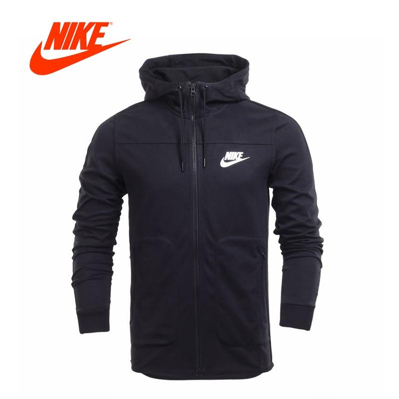 Original New Arrival Nike Mens Jacket Spring Winter Knit Breathable Hooded Sports Jacket куртка nike squad14 sideline knit jacket ss14