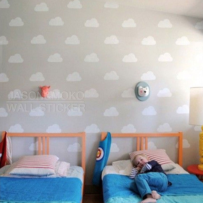 20pcs White Cloud Wall Stickers Wall Decal For Nursery Baby Room Wallpaper  45*60CM Art Home Decoration Diy Funny Wall Stickers In Wall Stickers From  Home ... Part 42