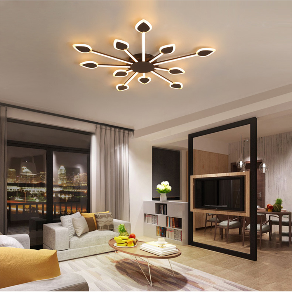 LED Pendant Light Creative Flame Acrylic Ceiling Lamps Minimalist Bedroom Living Room Indoor Lighting RC Dimmable Pendant Light
