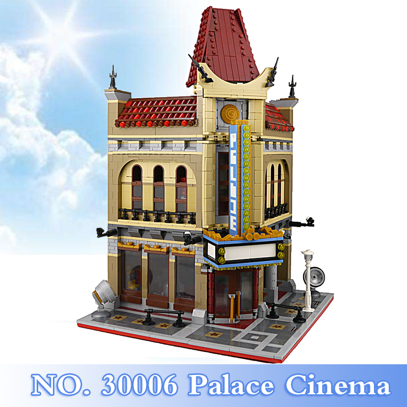 2018 New City Creator Series 2354Pcs Palace Cinema Figures Building Blocks Bricks Set Children Toys Model Kits Compatible 10232 city street series 15006 2354pcs palace cinema building blocks creator compatible legoing 10232 bricks toys gifts for children