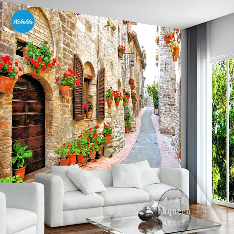 XCHELDA Custom 3D Wallpaper Design Landscape Architecture Photo Kitchen Bedroom Living Room Wall Murals Papel De Parede xchelda custom modern luxury photo wall mural 3d wallpaper papel de parede living room tv backdrop wall paper of sakura photo