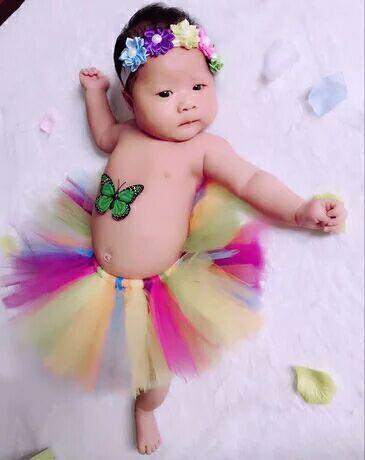 Bebé Del Tutú de Tul Falda Ropa de Bebé Recién Nacido Fotografía Atrezzo Bowknot Ropa Infantil Regalo de Cumpleaños Para El Bebé 1 Unidades