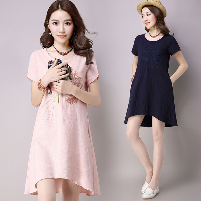 Aliexpress.com : Buy Chinese Style Womens Pink Dresses 2016 Casual ...