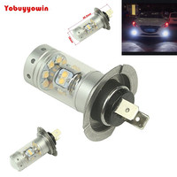 2Pcs 140W 28smd Sharp Chip LED Projector Plasma H7 Xenon White 6000K Bulbs For Car High
