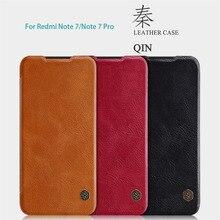 Чехол для Xiaomi Redmi Note 7 Nillkin QIN Series кожаный чехол с карманом для карт роскошный фирменный защитный флип-чехол для Redmi Note 7 PRO