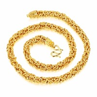 Men S Necklace Bead Chain Luxury Wedding Jewelry Vintage Gold Color Necklace Chain Dragon Head Long