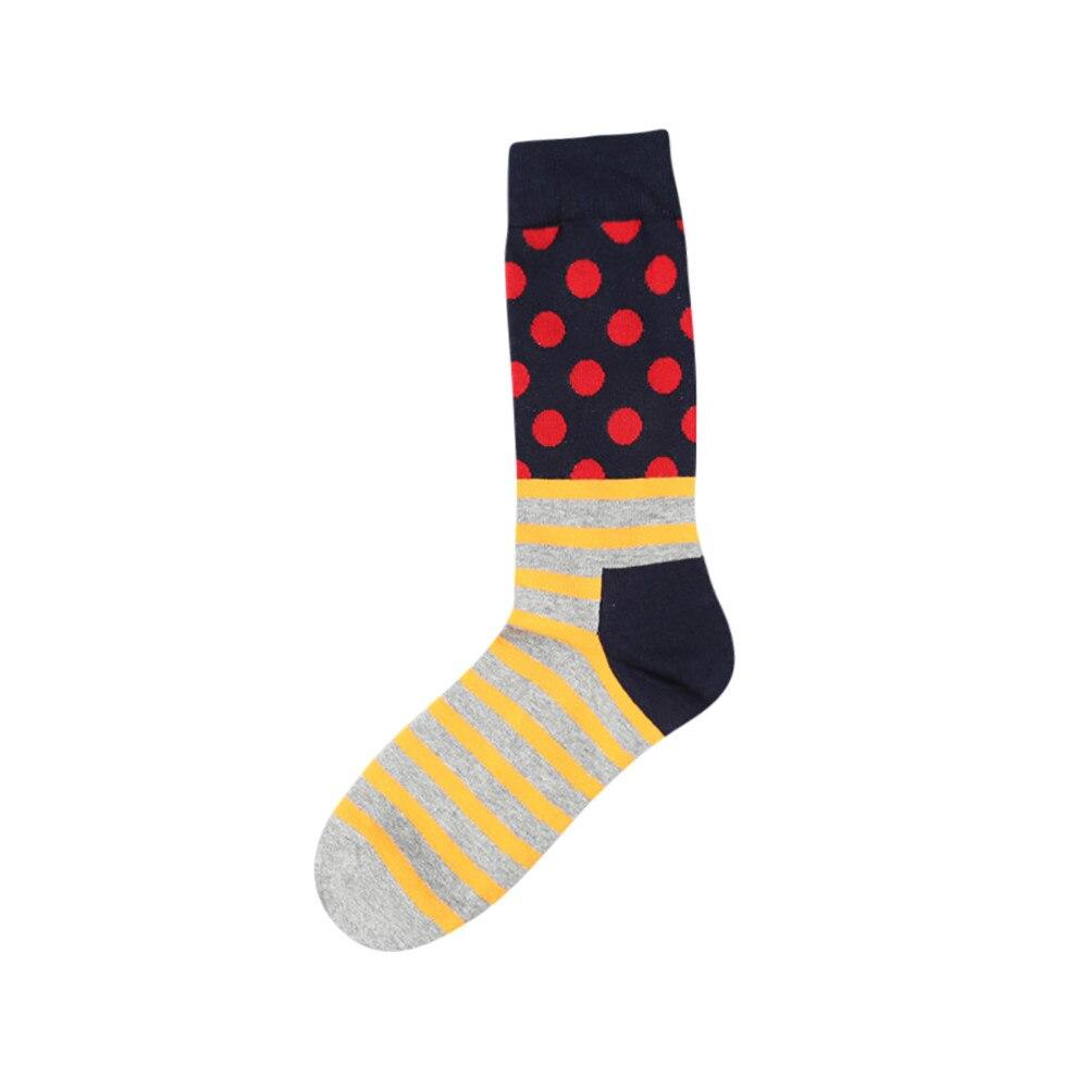 Лидер продаж, Новое поступление человек точка полоса Цвет блок хлопковые носки Цвет ful Повседневное носок Носки для собак # 5dq