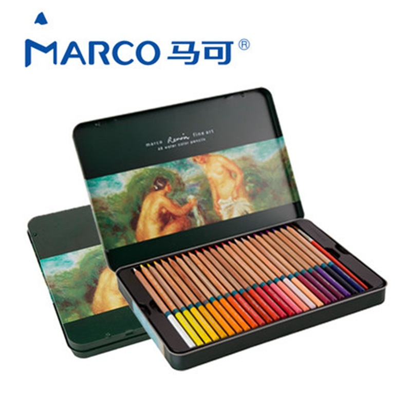 Marco Renoir fine art Water Colored Pencils Drawing Sketches lapis de cor Painting pencil/Colored Pencil Tin Box /48/36/72 Color marco raffine fine art colored pencils 24 36 48 colors drawing sketches mitsubishi colour pencil for school supplies
