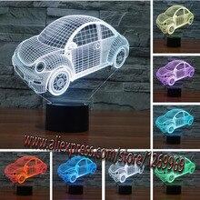 2017 Car-Styling Design Sedan Car 3D LED USB Lamp Touch Remote Controller Dimmer Kids Toys Nigh Light Boy Desk Decoration Gift