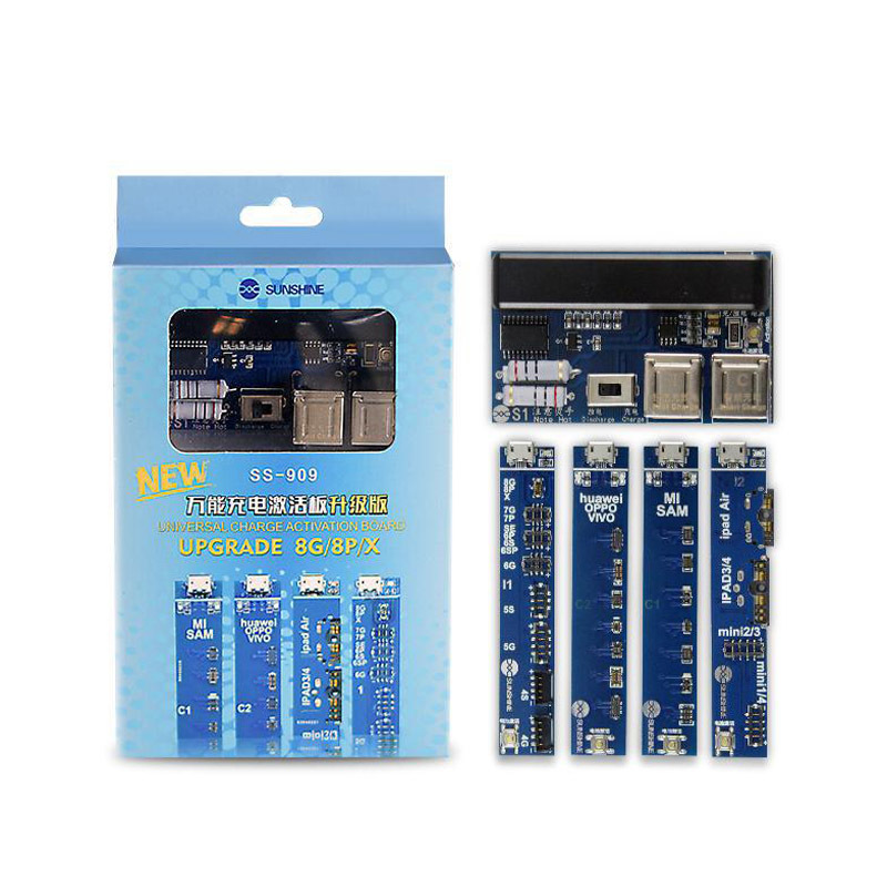 Universal Battery Activation Circuit Board Ss-909 Phone Battery Charger For Iphone Samsung Huawei Ipad Battery Tester