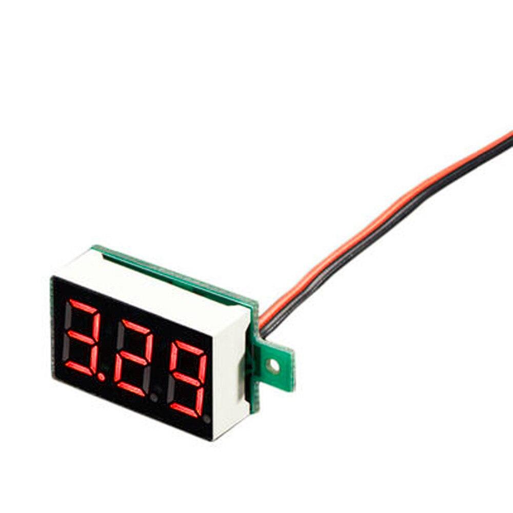 Цифровой вольтметр с ЖК-дисплеем, вольтметр, красный светодиодный измеритель напряжения, измеритель напряжения постоянного тока от 2,50 до 32,...