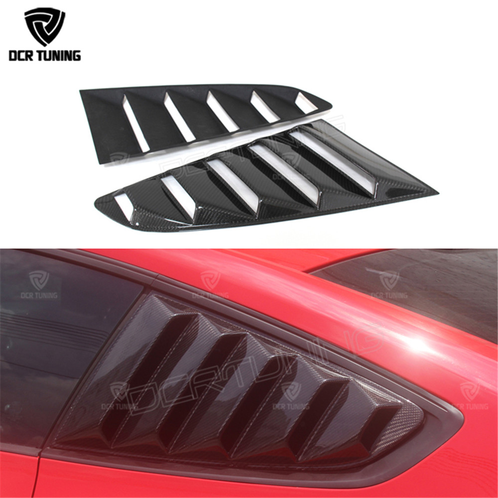 For Ford <font><b>Mustang</b></font> Carbon Fiber Rear Window Louvers <font><b>2015</b></font> 2016 GT350R Style for <font><b>Mustang</b></font> Tuning Parts Carbon Tuning image