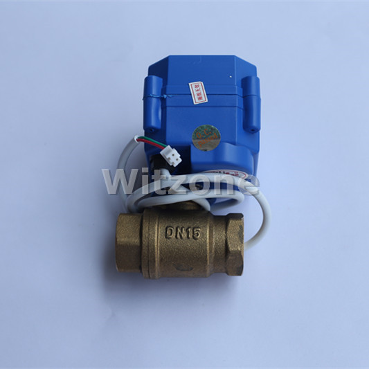 2 pin DN15 Valve 1/2 Motorized Valve DN20 Valve for Water Pipe Leak Alarm System WLD-807, Free Shiping popular water leak detection alarm device wld 806 with dn20 motorized ball valve and 6meter sensor cable free shipping