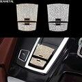 For BMW 5 6 7 Series X3 X4 X5 X6 F01 F10 F25 F26 F12 F15 F16 Car Diamond Sticker 3D Handbrake Interior Decoration Accessories