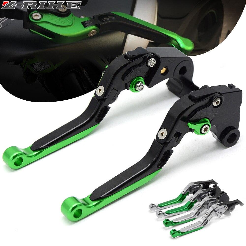 Leviers de frein moto réglable vélo pliant extensible CNC embrayage pour Kawasaki ZX1100 ZX-11 1990-2001 ZX7R ZX7RR 1989-2003
