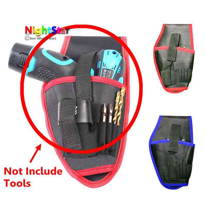 6 Pockets Oxford Tool Pouch Electrician Tools Bag Electrician Tool Belt Waist Pocket Tool Belt Pouch work belt / Random Color canvas kit multifunction waist bag electrician repair water resistant pockets tool bag