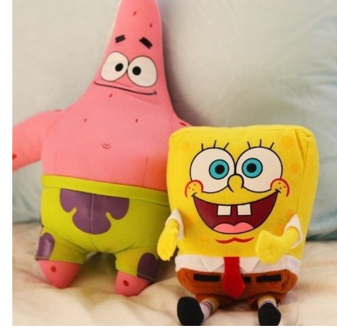 2017 Hotsale 2pcs/lot Cartoon Animal Doll Toy Stuffed and Plush Toys SpongeBob and Patrick Star Kids Toys for children baby born