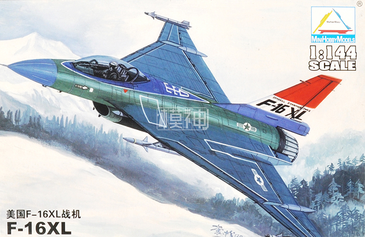 1:144 Us F-16XL Fighter Assembly Model Aircraft Model Modern Air Force 80423