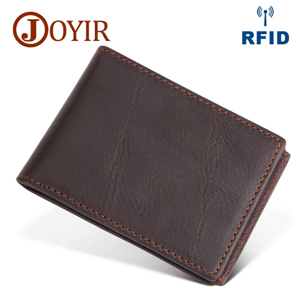 JOYIR NEW Genuine Leather magic wallet Credit Cart Wallet mini slim RFID wallet card & id holder man business Credit Card Holder