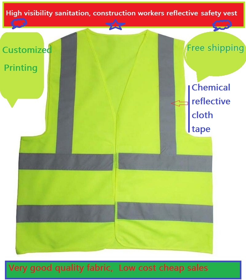 Traffic Safety Reflective Work Clothing High Light  Reflective Warning  Vest Customized Printed Logo Or Words cycling reflective clothing reflective vest safety clothing to road traffic motocross body armour protection jackets