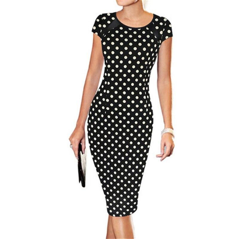 Женское облегающее платье, повседневное облегающее платье с коротким рукавом и принтом, для офиса, 2019