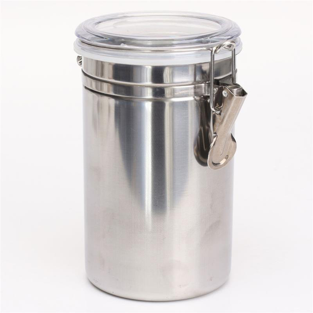 Cocode Stainless Steel Sealed Canister Jar Home Kitchen Coffee Sugar Tea  Storage Bottles Jars Kitchen Accessories