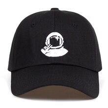 Новинка, черные бейсболки для женщин и мужчин, с вышивкой космонавта, космонавта, из хлопка%, бейсболки, Кепка для гольфа, Bone Garros