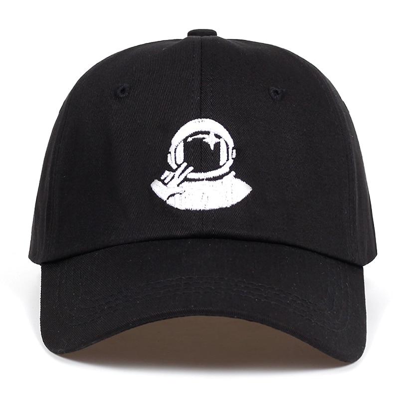 Women Men New Black   Baseball     Caps   astronaut Spaceman embroidery Explorer Cotton% snapback hats golf Hat Bone Garros