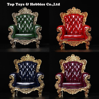 1/6 Scale British Single Sofa Model red/green/blue/purple Figure Scene for 12 action figure doll 1:6 Accessories