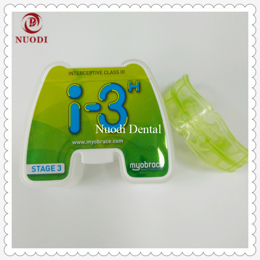 Teeth Trainer Appliance MRC Orthodontic teeth trainer I3H/Orthodontic brace Class III Malocclusion/Teeth trainer alignment I3h 1pc dental orthodontic study model transparent teeth malocclusion orthodontic model with colorful brackets