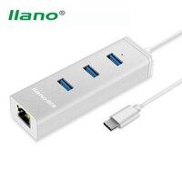 Llano High Speed USB 3 0 Type C 3 Ports HUB Splitter Portable USB HUB Gigabit