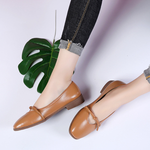 Image 4 - STQ 2020 Autumn Women Ballerina Flats Genuine Leather Shoes Slip On Loafers Women Flats Woman Grandmother Loafers Shoes 1901