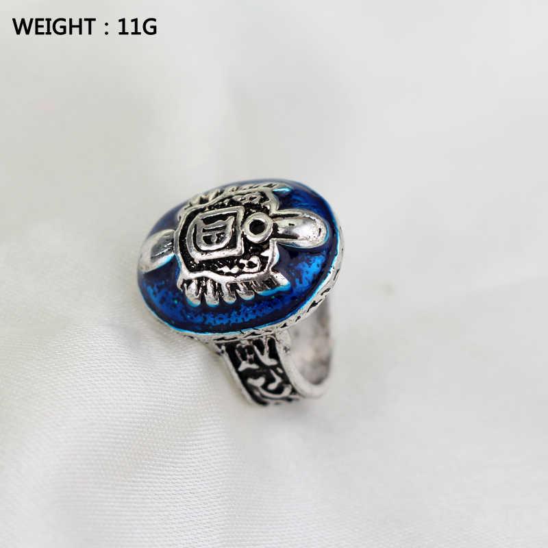 The Vampire Diaries Ring Salvatore Damon Stefan America TV Show Finger Ring Jewelry Movie Bijoux Antique Retro Punk Ring